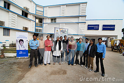 Glocal Hospital in West Bengal Editorial Stock Photo