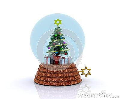 glockenspiel mit weihnachtsbaum und geschenken stockfotos. Black Bedroom Furniture Sets. Home Design Ideas