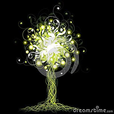 Gloeiende boom