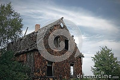 Gloomy haunted house