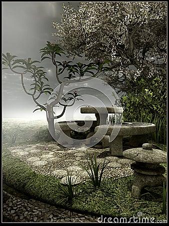 Gloomy old garden
