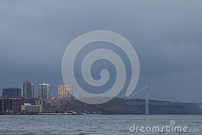 Gloomy rain clouds after Hurricane Sandy Editorial Stock Photo