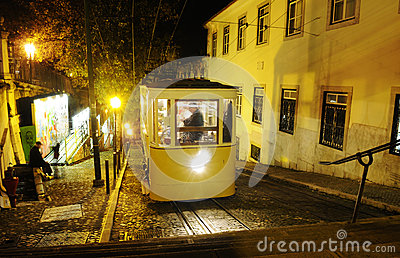 Gloria Tram at Night