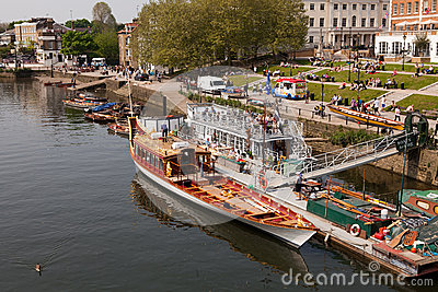 Gloriana Jubilee Barge Editorial Photo