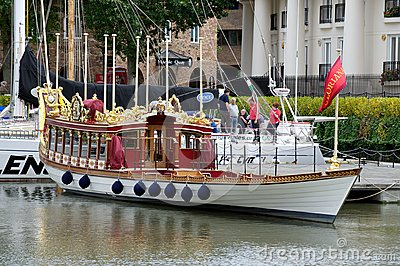 Gloriana, the royal jubilee barge, London, UK Editorial Stock Photo