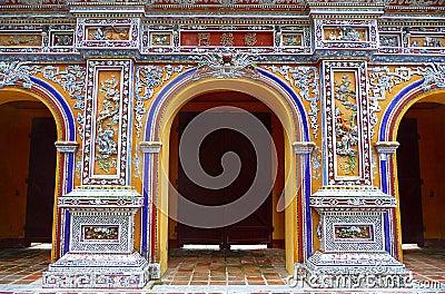 Glorious gate at citadel in Hue, Vietnam
