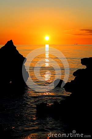 Free Glorious Sunset At Mills Beach In Mornington, Mornington Peninsula, Melbourne, Victoria, Australia Stock Photos - 131076403