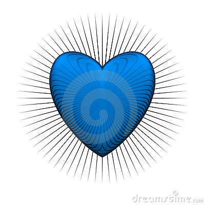 Gloss bur blue heart
