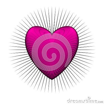 Gloss bur pink heart