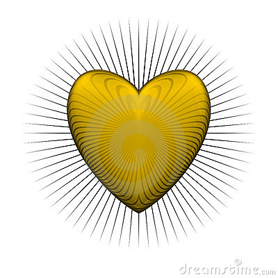 Gloss bur yellow heart