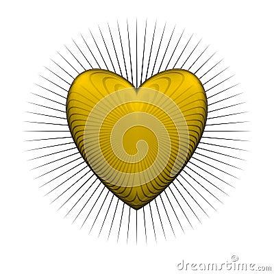 Gloss bur yellow heart