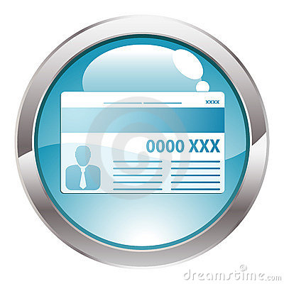 Gloss Button with Credit Card