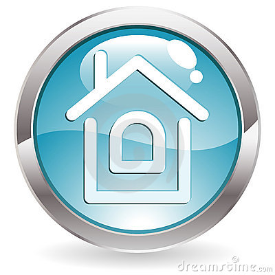 Gloss Button with Home