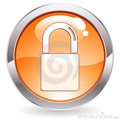 Gloss Button with Lock