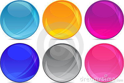 Glossy ball backgrounds for icons in vector