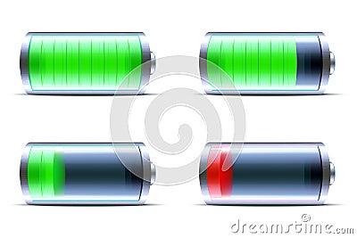 Glossy battery