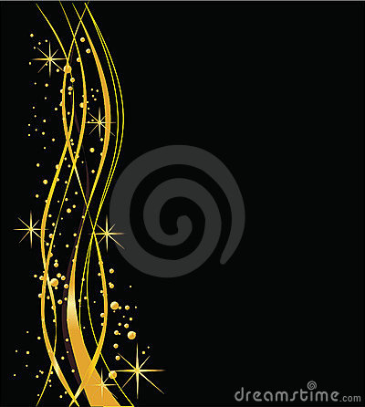 Glossy  black and gold background