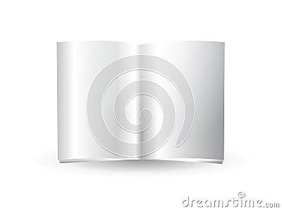 Glossy blank magazine