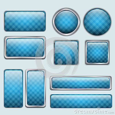 Glossy Blue web buttons