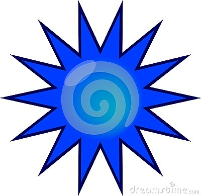 Glossy blue web sticker