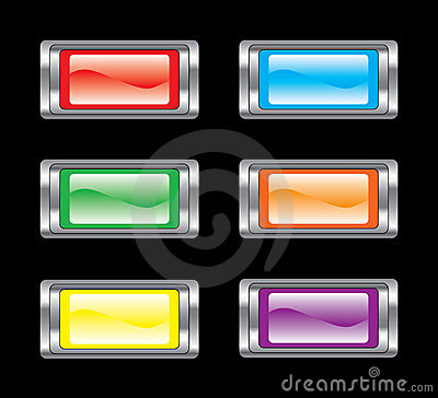 Glossy button icon set