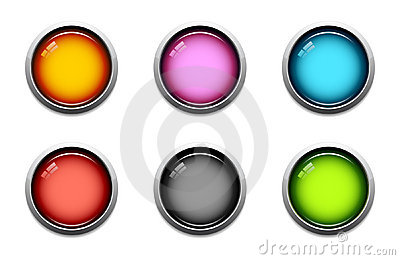 Glossy button icons