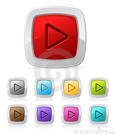 Free Glossy Button - Video Player Stock Photography - 10057722