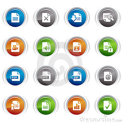 Glossy Buttons - File format icons