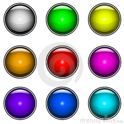 Glossy buttons vector set