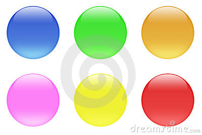 Glossy Candy Crystal Buttons