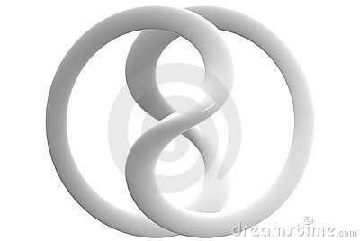 Glossy Ceramic Infinity Sign