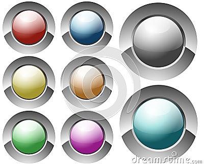 Glossy circular buttons