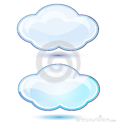 Free Glossy Clouds Stocks Logo Stock Photography - 28391602