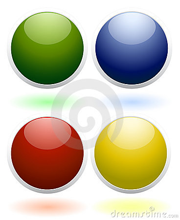 Glossy colored icons