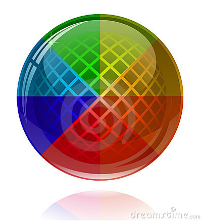 Glossy colorful abstract sphere