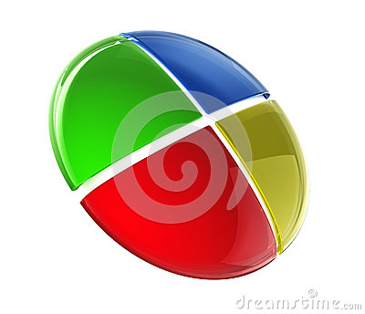 Glossy colorful button