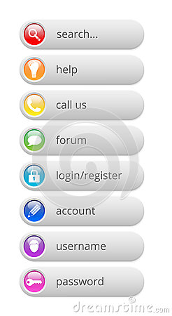 Glossy colorful internet buttons