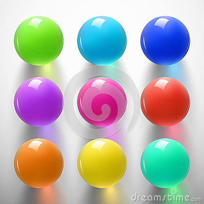 Free Glossy Colorful Sphere-01 Royalty Free Stock Image - 84724286