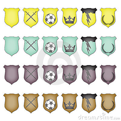 Glossy Crest Icon Set