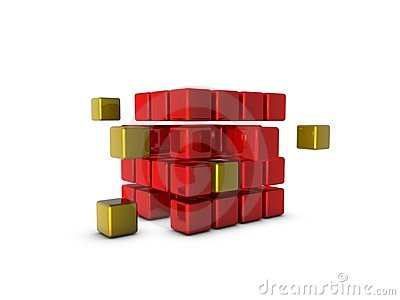 Glossy cubes