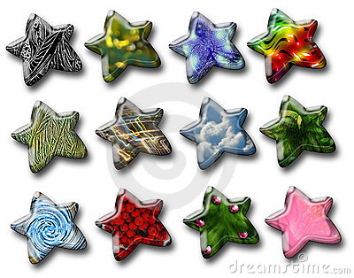 Glossy decorative stars
