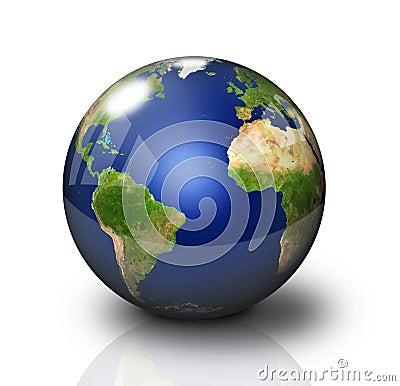 Glossy Earth Globe