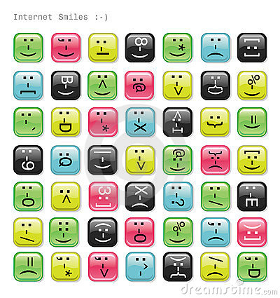 Glossy emotions icons.