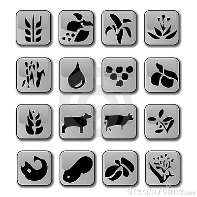 Glossy Farming Crop Icons