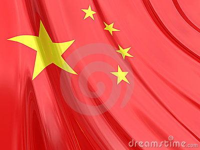 Glossy Flag of China