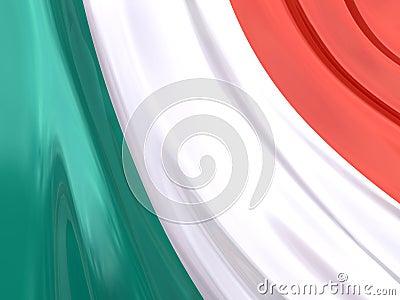 Glossy Flag of Italy