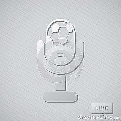 Glossy football fan mic. Live