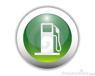 Glossy Fuel Icon Button