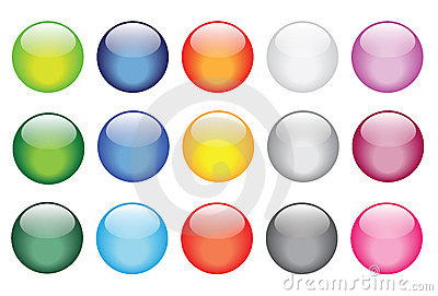 Glossy glass buttons for website icons