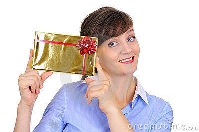Glossy golden gift